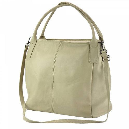 Kentia leather shoulder bag Taupe