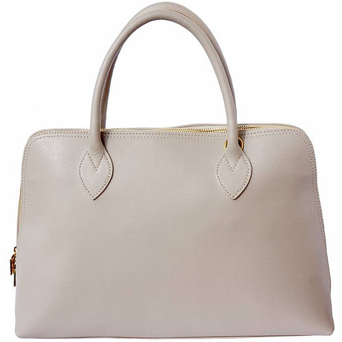 Giulia GM leather handbag Taupe