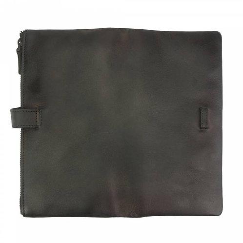 Wallet Agostino in vintage leather black