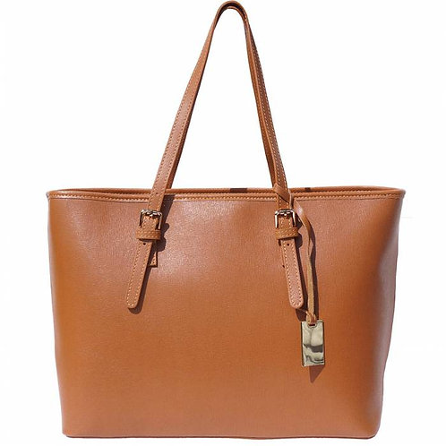 Eloisa Tote leather bag Tan
