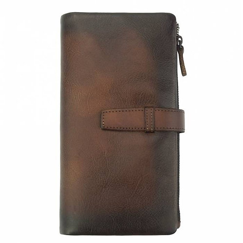 Wallet Agostino in vintage leather Brown