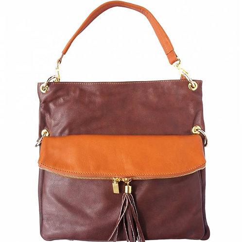 Monica leather shoulder bag Tan