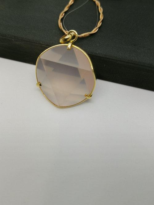Rose quartz in 18ct Gold