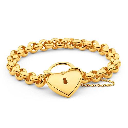 Belcher Bracelet With a Heart Lockit