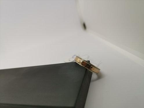 Unisex Ring Rose on white Gold