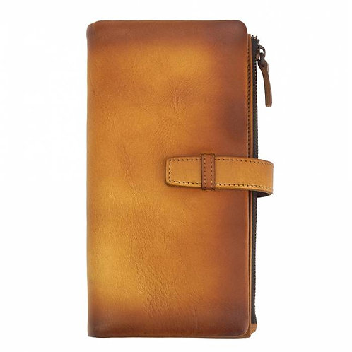 Wallet Agostino in vintage leather tan