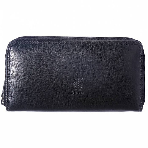 Zippy Wallet in soft cow leather black