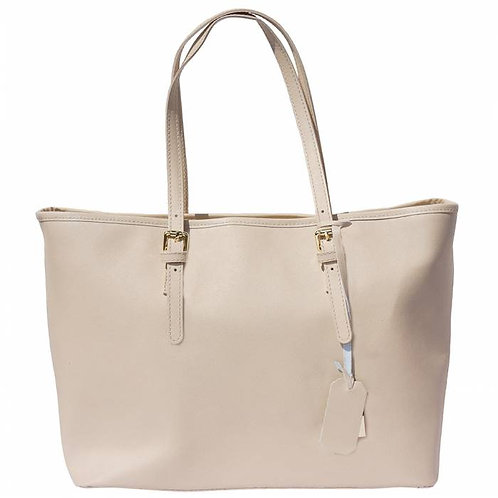 Eloisa Tote leather bag taupe