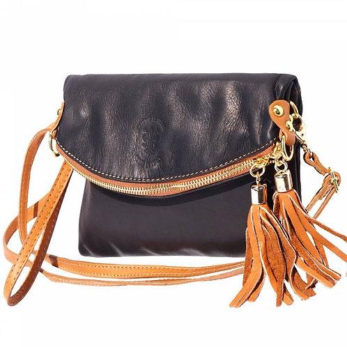 Graziella folded clutch black