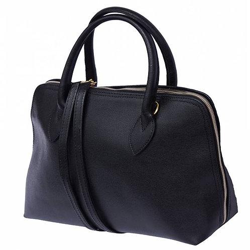 Giulia GM leather handbag Black