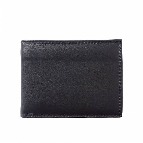 Man wallet in calf-skin soft leather
