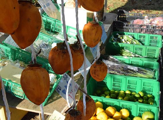 手作りの干し柿