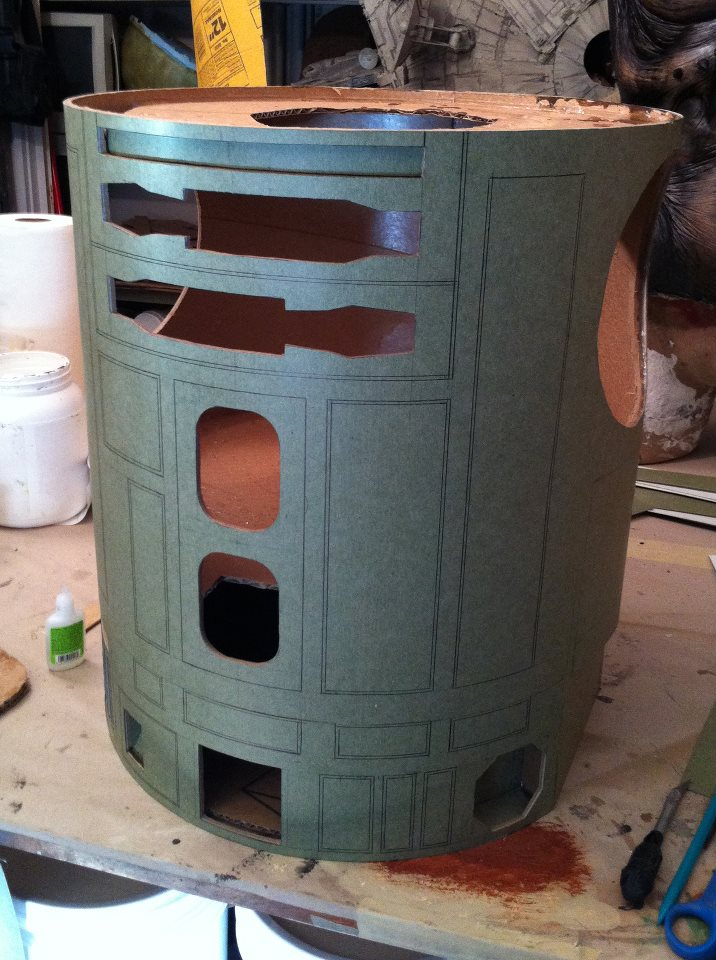 R2-D2 Pre-Build Body Cylinder Cast