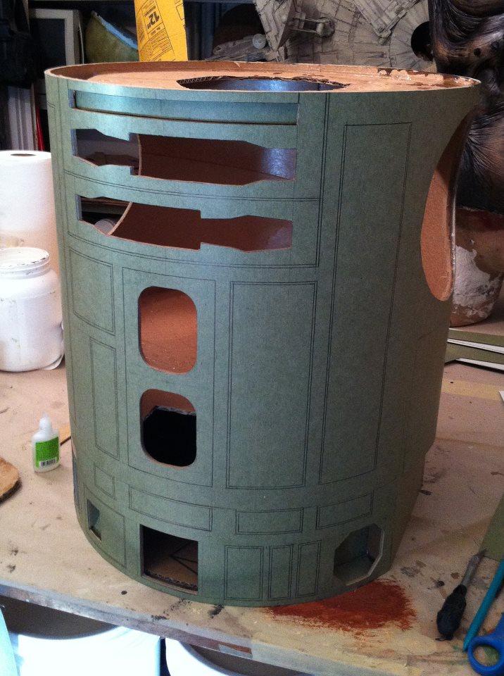 R2-D2 Pre-Build Body Cylinder Cast