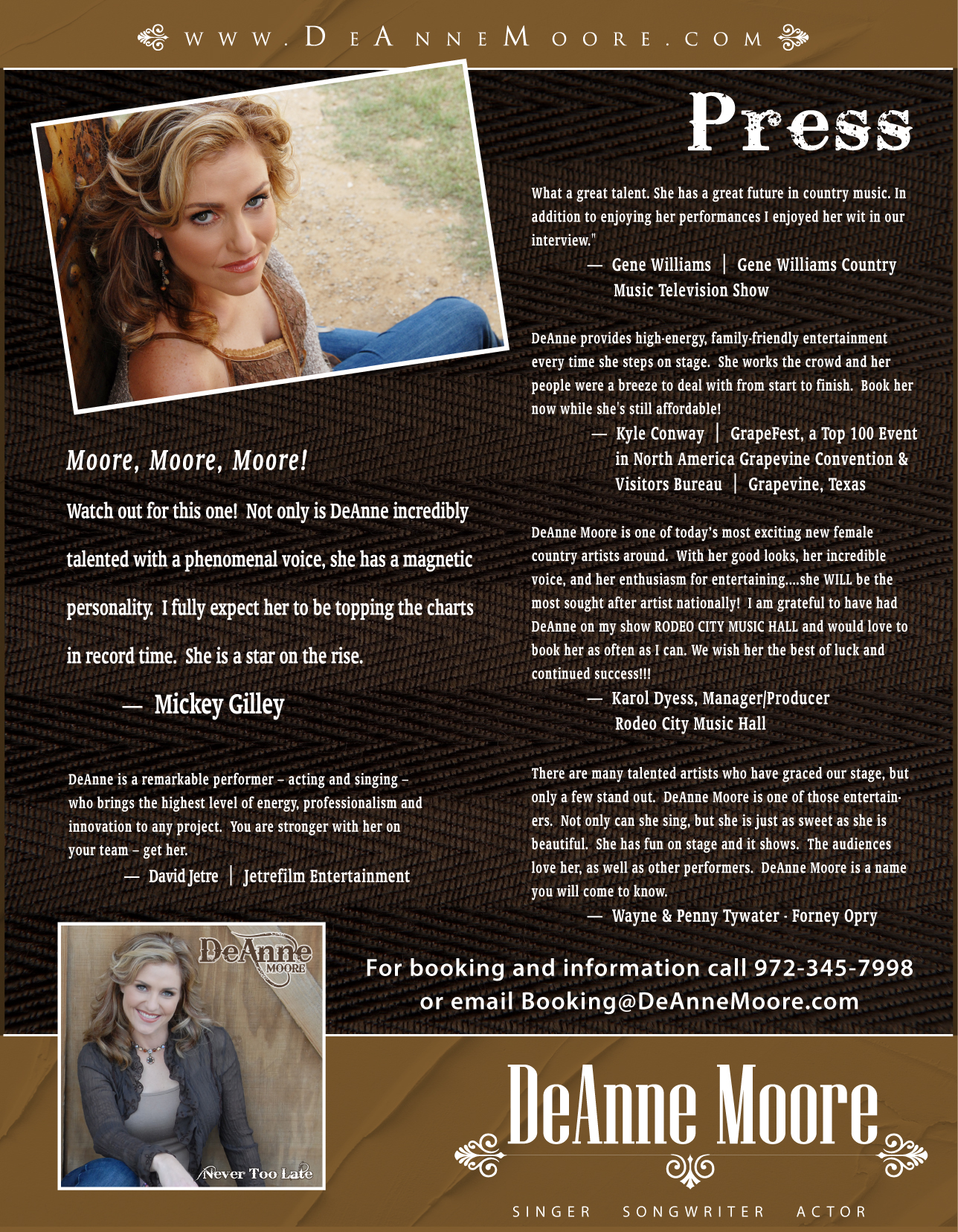 DeAnne Moore Press Kit
