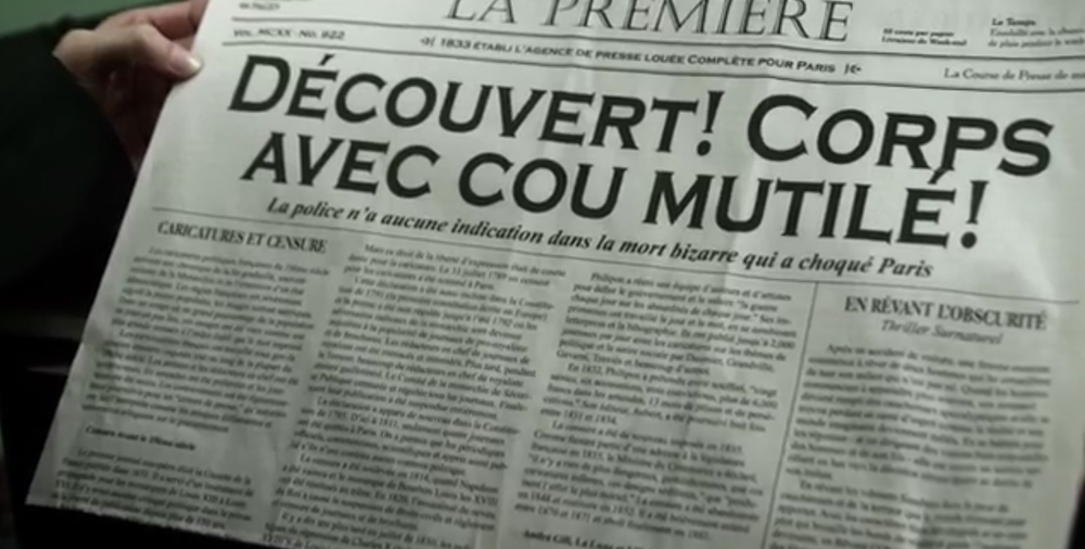 French Newspaper Design