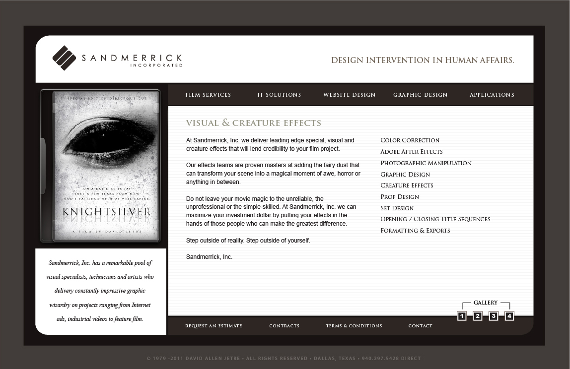 2005 Sandmerrick Website Design