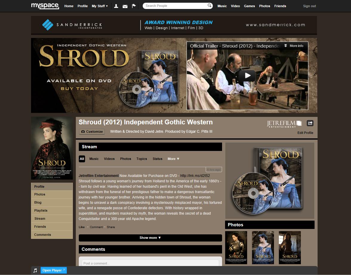Shroud MySpace Concept