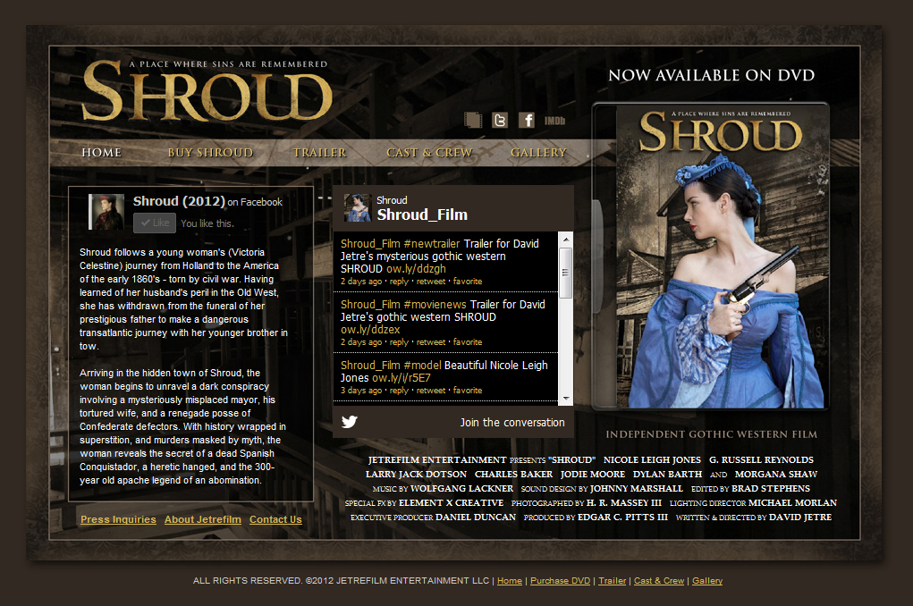 Shroud Movie Website