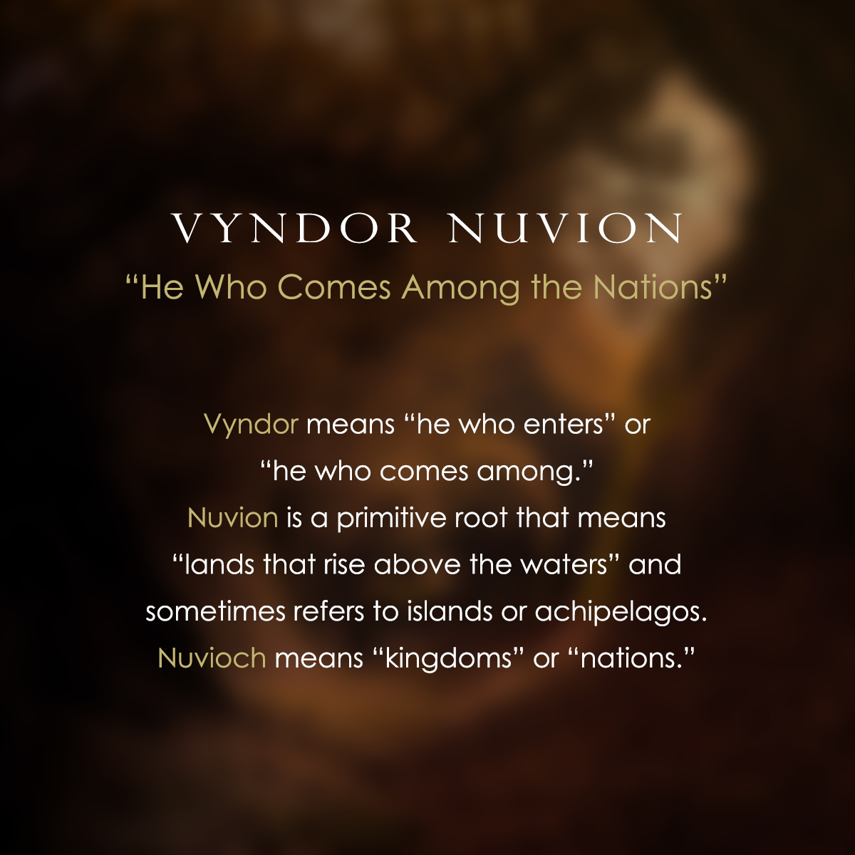 Holy Name 5 - Vyndor Nuvion