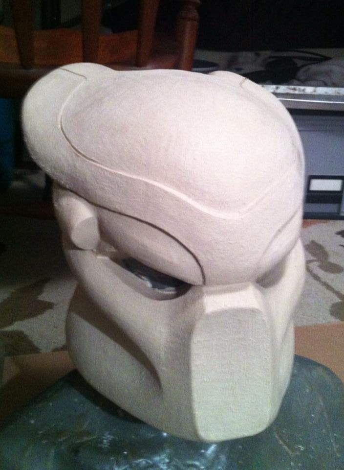 Predator Helmet Initial Sculpt