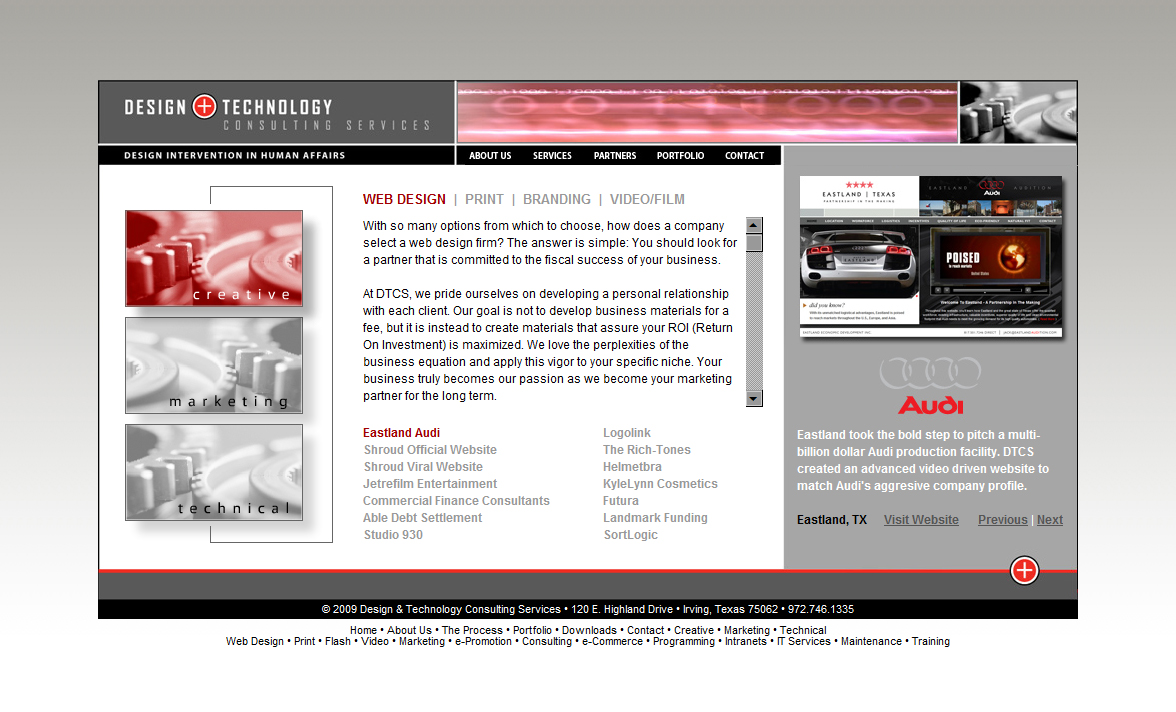 2006 DTCS Website Design