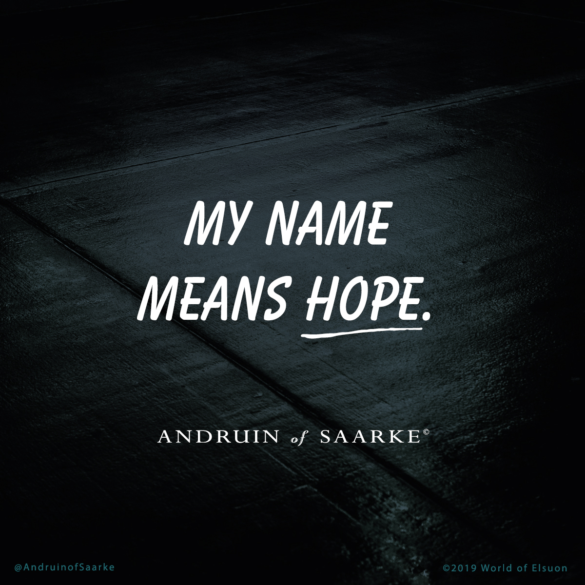 Andruin 01 - My name means hope