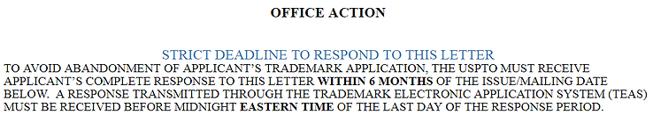 Trademark Office Action