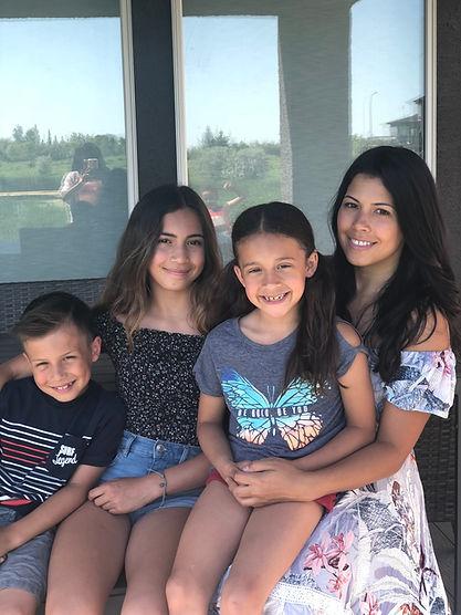Felecia Nanassy and her 3 children - Owner of Rise and Shine Kids Yoga | Winnipeg, Manitoba