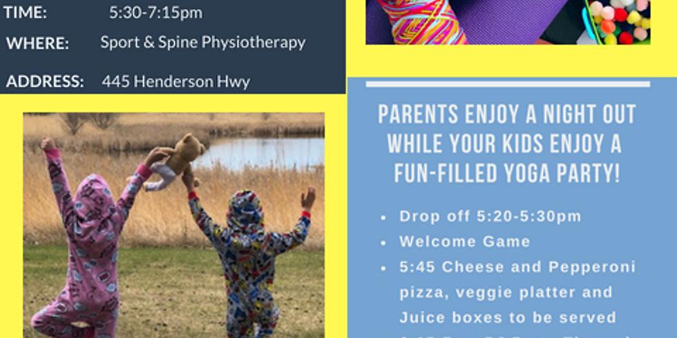 PJ's & Pizza Yoga Party!