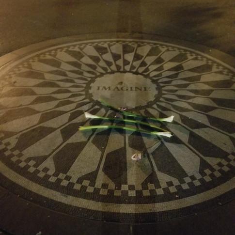John Lennon Imagine Monument at Central Park