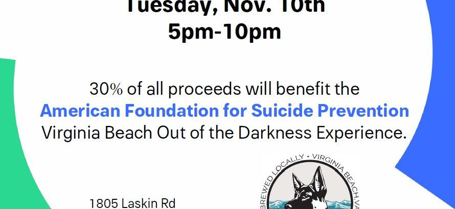 Wasserhounds Brewery of Virginia Beach Promotes Service Against Suicide