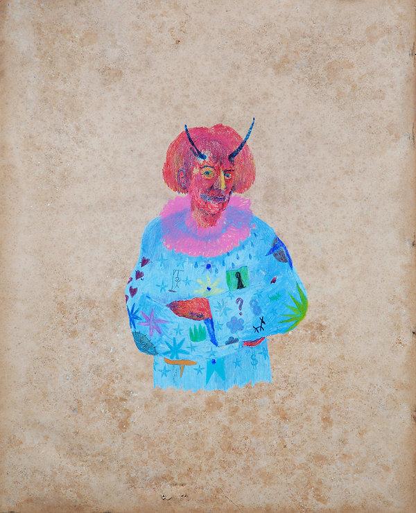 Portrait,2018_Pastel sec et crayon de co