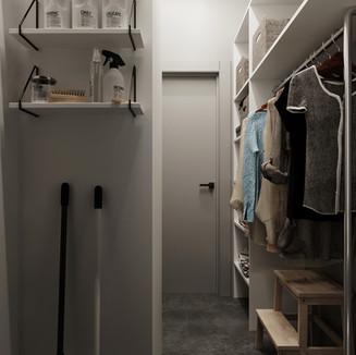 Полиці в гардеробі