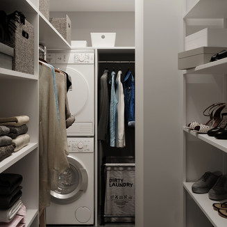 інтер'єр гардеробної кімнати