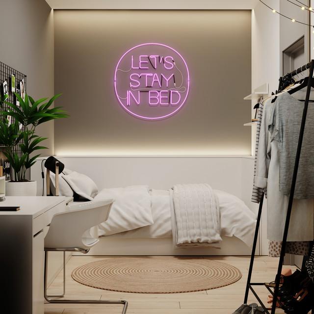Teen bedroom neon light