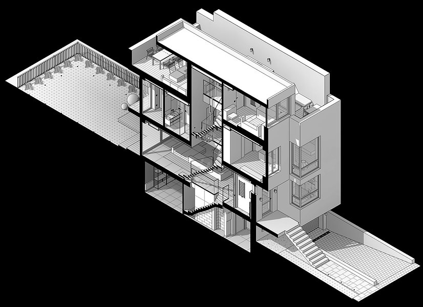 3d section of the house