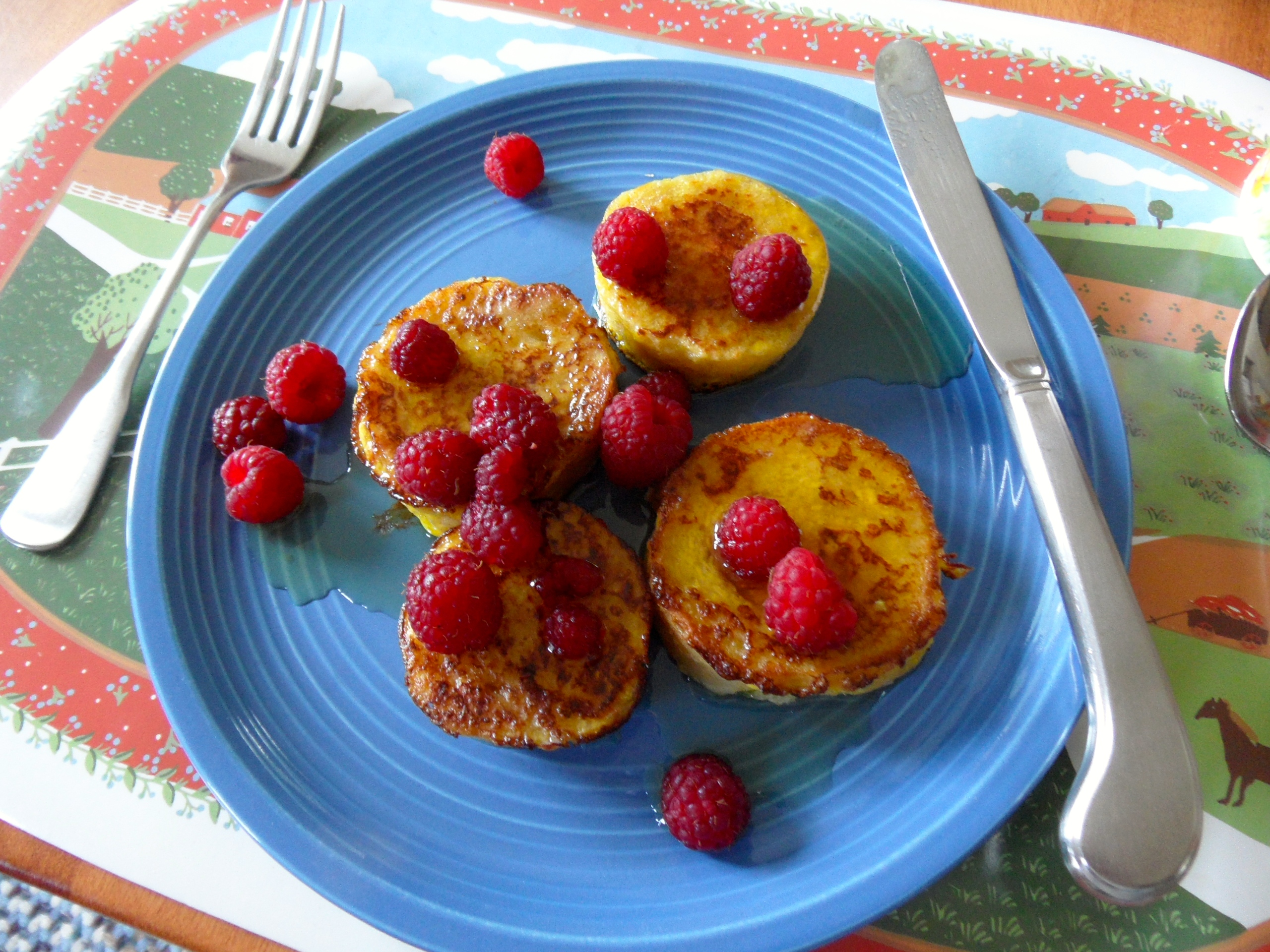 Mmmmm, raspberries and maple syrup!