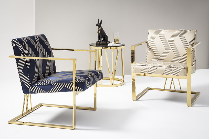The Isabelle silk accent chair adds all