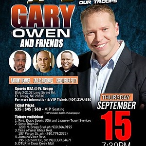 """Comedy All Star Stand Up for the Troops featuring """"Gary Owens"""""""