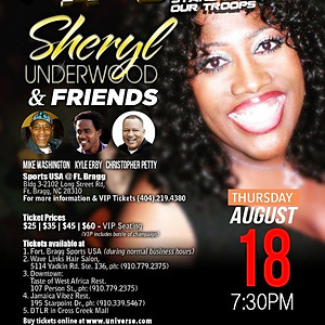 """Comedy All Star Stand Up for the Troops featuring """" Sheryl Underwood"""""""