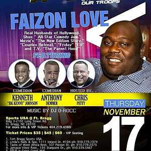 """Comedy All Star Stand Up for the Troops featuring """"Fazion Love"""""""