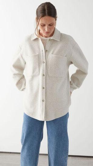 Oversized Patch  Pocket Button Up Shirts