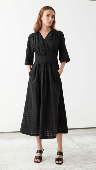 Relaxed Midi Wrap Dress