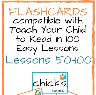 Flashcard Set 2 Companion Resource Teach Your Child to Read in 100Easy Lessons