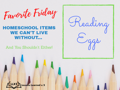 Favorite Friday: Reading Eggs!