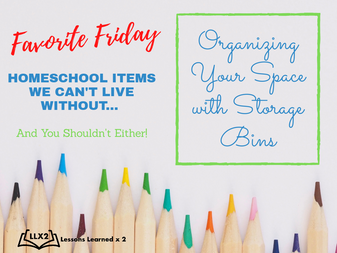 Favorite Friday: Organizing Your Space With Storage Bins
