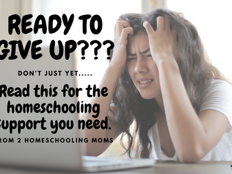 Ready to give up? Read this for the homeschooling support you need.