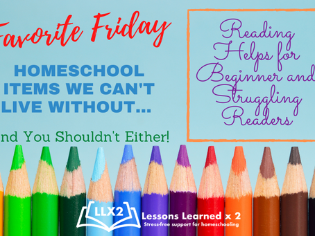 Favorite Friday: Help for Beginning and Struggling Readers!