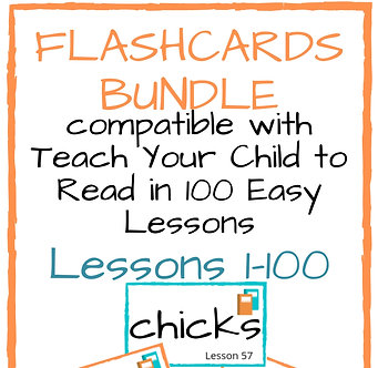 Bundled Flashcard Set Companion Resource Teach Your Child to Read in 100Easy Le